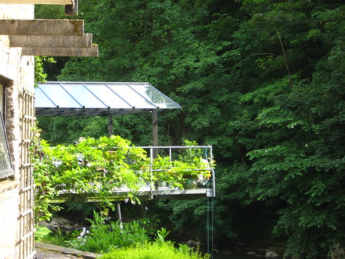 Conservatory platform over the river