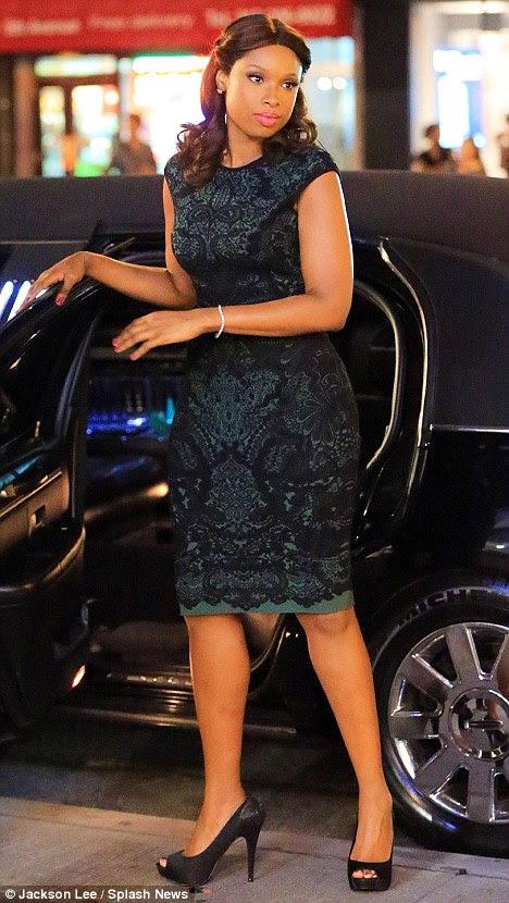 Smash hit: Jennifer Hudson looks glamorous on the set of Smash