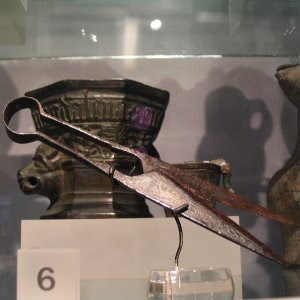 German scissors from 1500's in Museum of London.