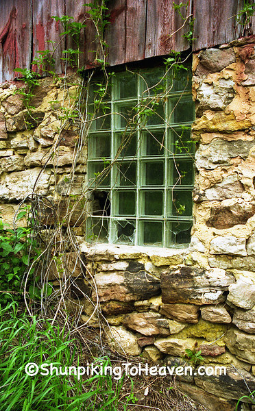 Glass Block Barn Window, Herman Ringelstetter Farm, Wilson Creek, Sauk County, Wisconsin