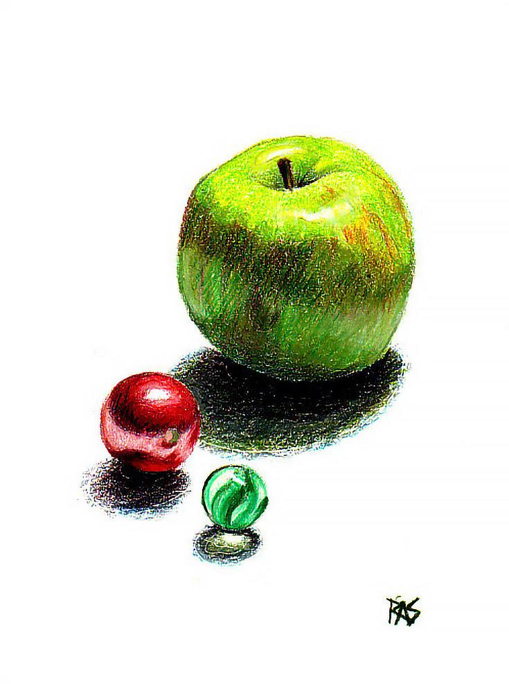 Desenho da maçã