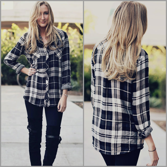 flannel shirts for fall  outfit of the day video with