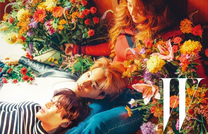 f(x) Krystal, EXO Kai and SHINee Tae Min - W Magazine August Issue '15