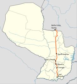 Trayecto Ruta 8 Paraguay.PNG