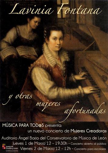 LAVINIA FONTANA Y OTRAS MUJERES AFORTUNADAS - MÚSICA PARA TOD@S - 1 Y 2 MARZO´12 by juanluisgx