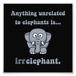 Irrelephant Elephant Photo Print