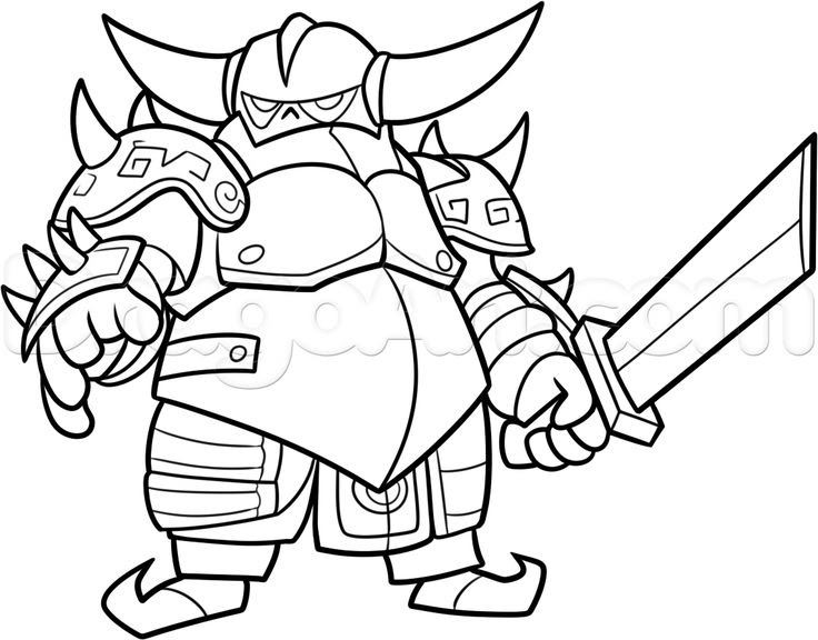 Clash Of Clans Golem Coloring Page Dibujos T