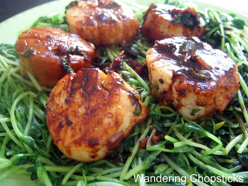 Scallops and Pea Shoots 6