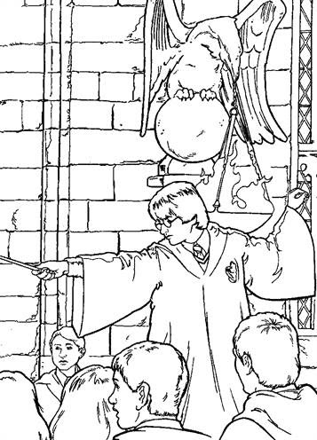 kidsnfun  26 coloring pages of harry potter and the