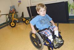 Ian's Speeding Around in his Wheelchair!