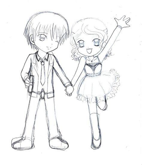 anime chibi couple drawing hd wallpaper gallery