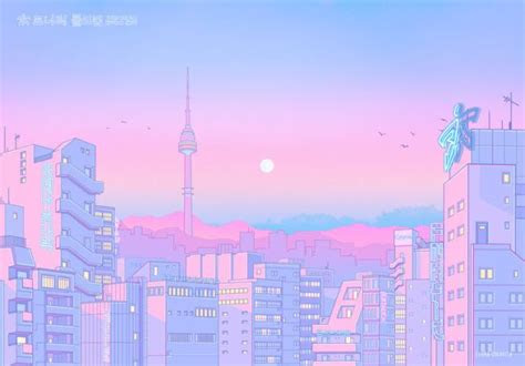 tokyo streetscapes aesthetic art aesthetic pastel