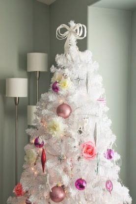 Albero di Natale 2012 bianco e rosa