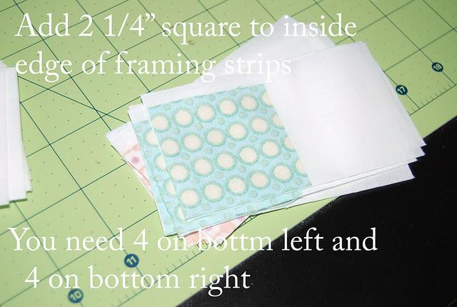 sew framing pieces