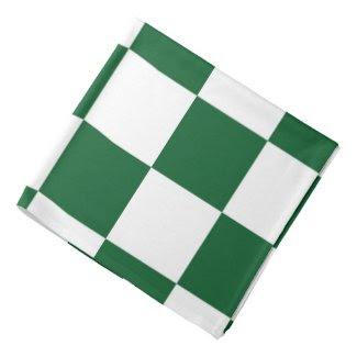 Checkered Green and White Bandannas