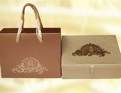 Esha deol's wedding Invitation cards with Box and Bag