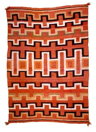 A Navajo rug made circa 1880, source wikimedia, Art Scene India