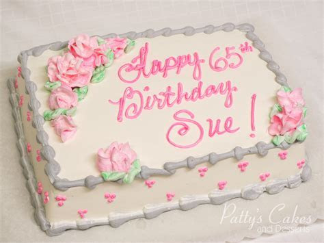 Photo of a pink and grey birthday cake   Patty's Cakes and