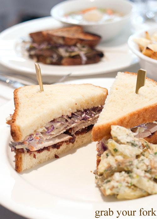 Dirty Bird turkey sandwich at Ruby and Rach, Strattons Hotel Sydney