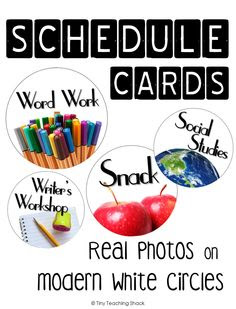 Editable Schedule Cards With Analog Clocks | FourthGradeFriends ...