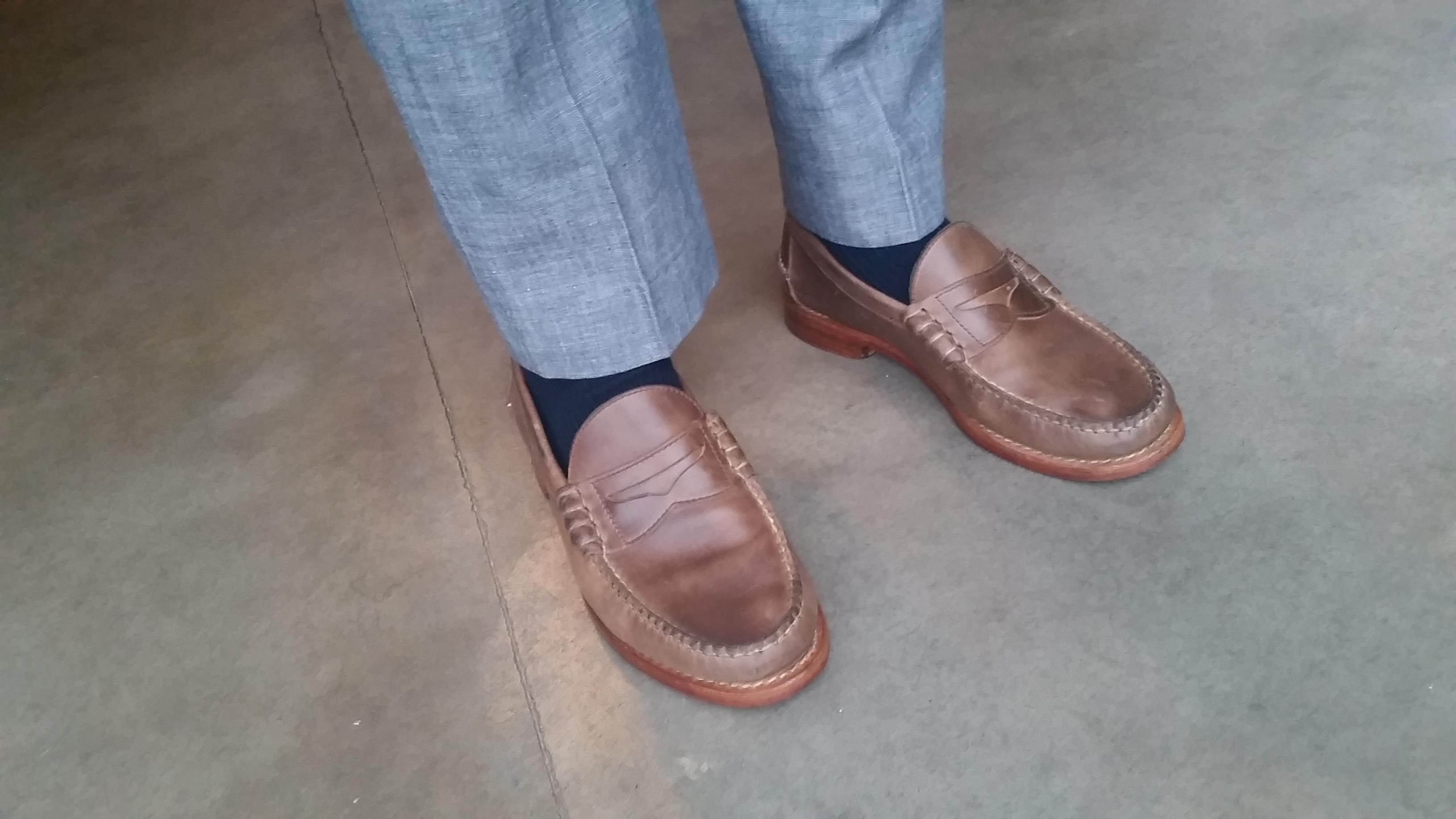 1 Year Review Rancourt Beefroll Penny Loafers - Natural ...