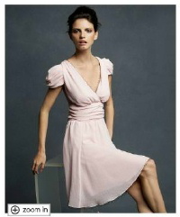 Karl Lagerfeld for Macy's Puff Sleeve Tulle Trim Dress