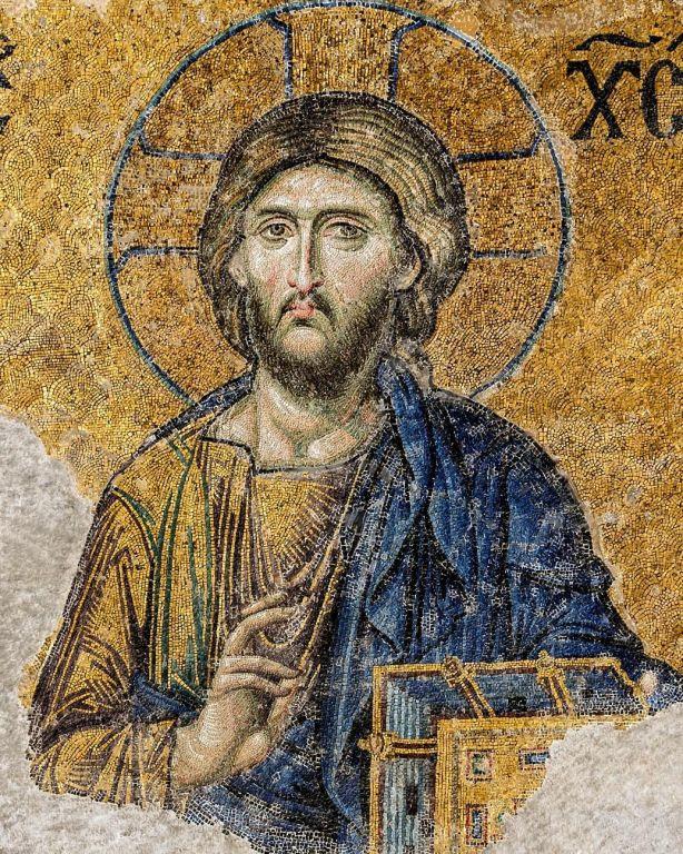 Deesis Christ Pantocrator Mosaic in Hagia Sophia