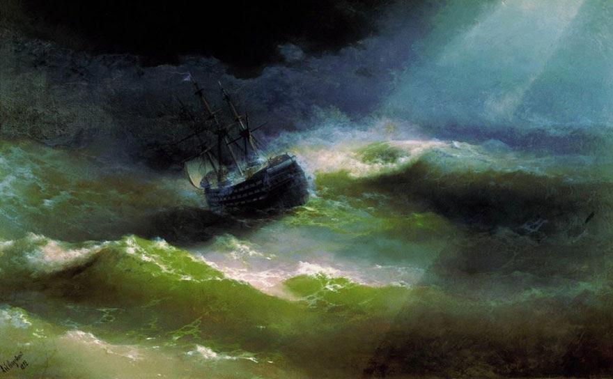 -pintura del siglo fascinantes-translúcidos ondas-19a-ivan-konstantinovich-aivazovsky-7