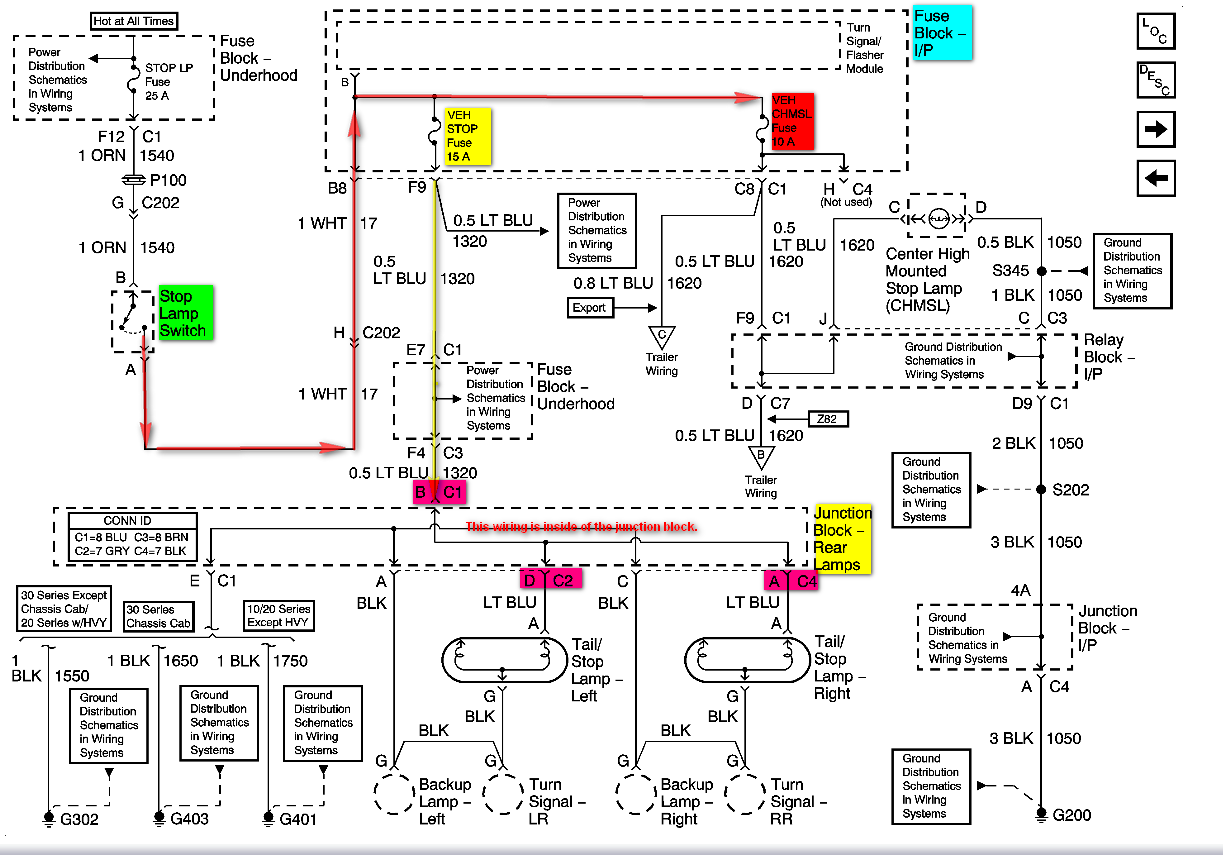 Wiring Diagram For 2000 Chevy 3500 Tail Lights Wiring Diagram Owner Owner Bowlingronta It