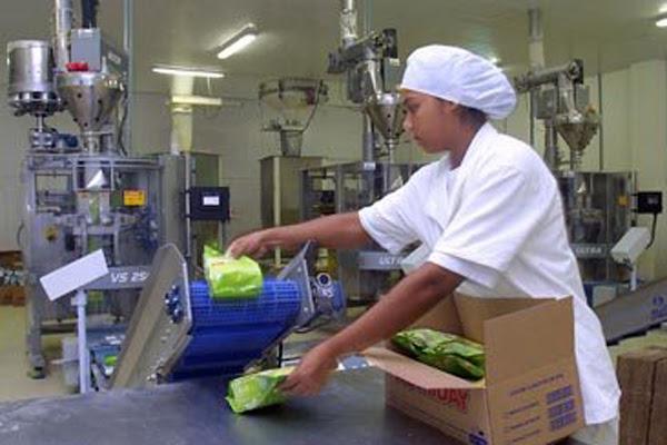 Imagem mostra produção na indústria, em 2007: A Nutriday tem desde farinha láctea a achocolatado