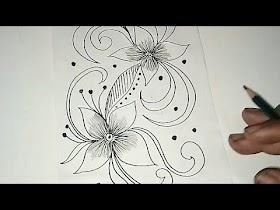 Sketsa Motif Batik Kontemporer