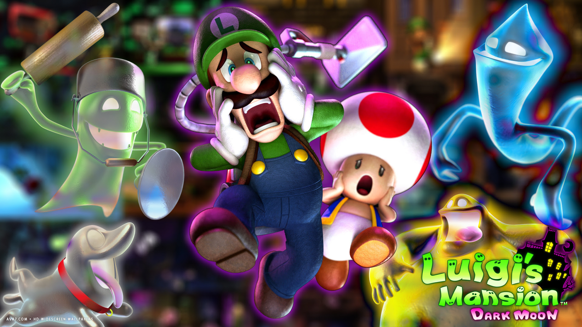 Luigis Mansion 2 Game Dark Moon Hd Widescreen Wallpaper Games