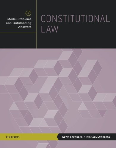 Constitutional Law Model Problems And Outstanding Answers