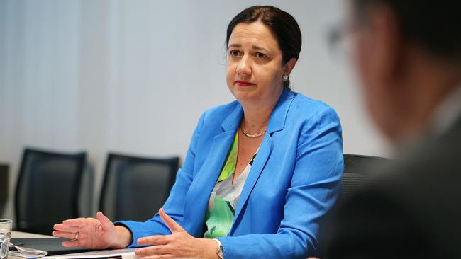 Annastacia Palaszczuk chairing the Working Queensland Cabinet Committee in Townsville. Picture: Jack Tran