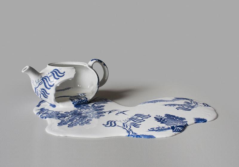 Melting Ceramics by Livia Marin pattern cups ceramics