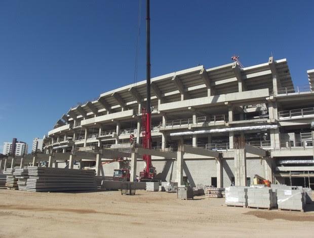 Obras da Arena das Dunas (Foto: Matheus Magalhães)