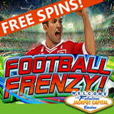 Jackpot Capital Casino Gives Free Spins and Casino Bonuses for Soccer-themed Football Frenzy Slot