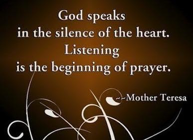 God Speaks In The Silence Of The Heart Listening Is The Beginning