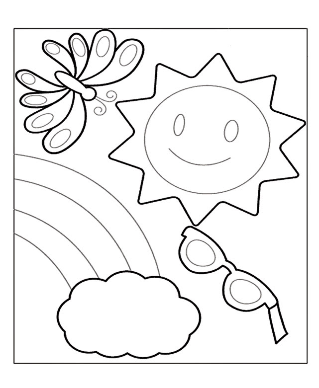 33 Cute Summer Coloring Pages, Coloring Pages: Summer Coloring Pages For Preschool  Summer - Coloring Pages