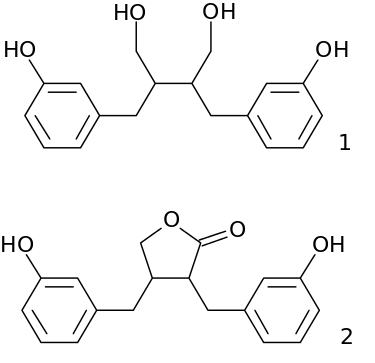 Enterodiol and Enterlactone.svg