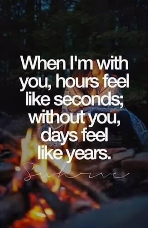 Romantic Short Love Quote Days Feel Like Years Without You