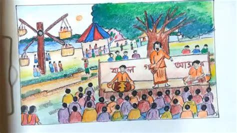 draw scenery  pohela boishakh festival  pohela