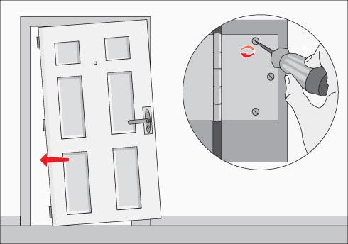 Sistemas alarmas como reforzar una puerta de madera for Como poner una puerta de madera con marco