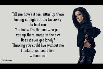Download Lagu Without Me - Halsey (Lyrics)