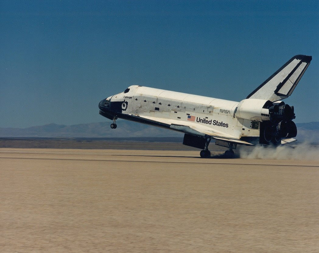 Aug06-1985-STS51Flanding