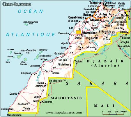 خريطة المغرب الطرقية Pdf Kharita Blog