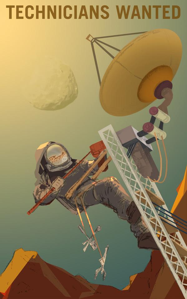 Những kỹ thuật viên và kỹ sư tương lai trên Sao Hỏa. Những người có tài năng kỹ thuật luôn được coi trọng trong chuyến đi đến Sao Hỏa của chúng ta. Dù là sửa chữa anten trong môi trường khắc nghiệt của Sao Hỏa, hay thiết lập một trạm không gian trên Phobos, chúng tôi đều cần các kỹ năng của bạn. Credit: NASA/KSC.