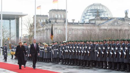 Angela Merkel and Jens Stoltenberg