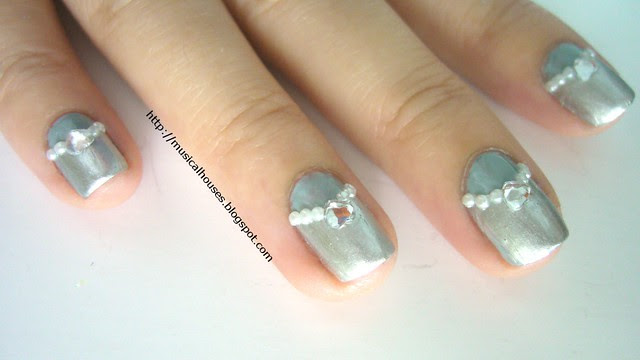 winter blue silver nails 5