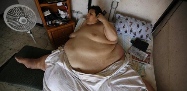 Manuel Uribe, 48, foi considerado o homem mais gordo do mundo pelo Guinness, chegando a pesar 597 kg